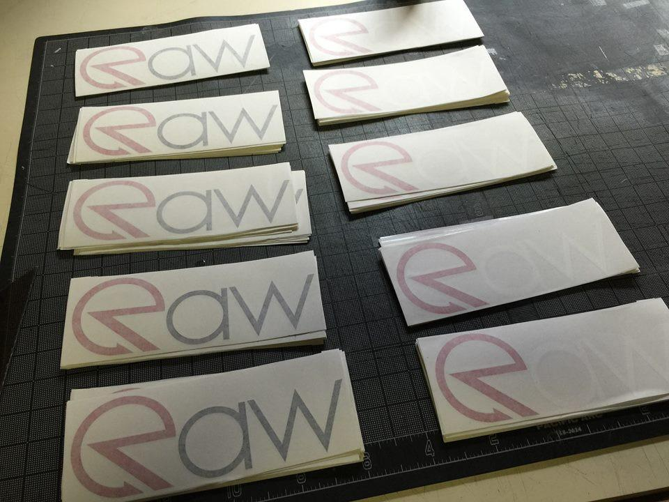 RAW Stickers - Sheet of 50, Multiple Colors